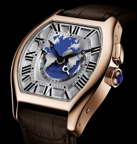 Cartier Tortue multiple time zone