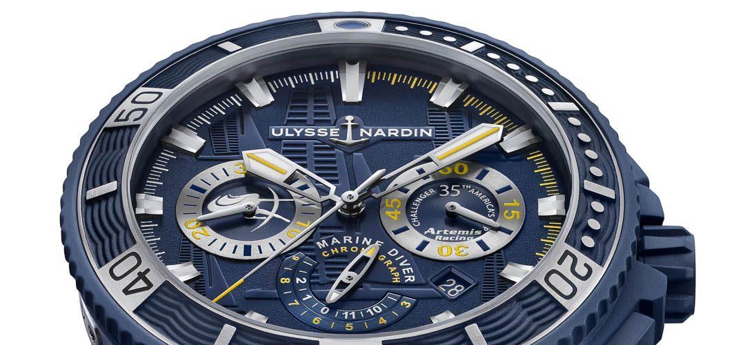 Ulysse Nardin presenteert Diver Chonograph Artemis Racing