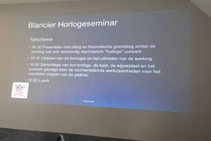 Blancier Horlogeseminar | Alles over Horloges